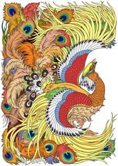 feng huang mythological bird