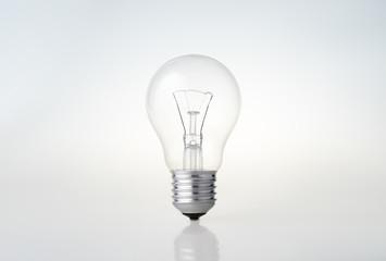 Transparent light bulb. Background image.