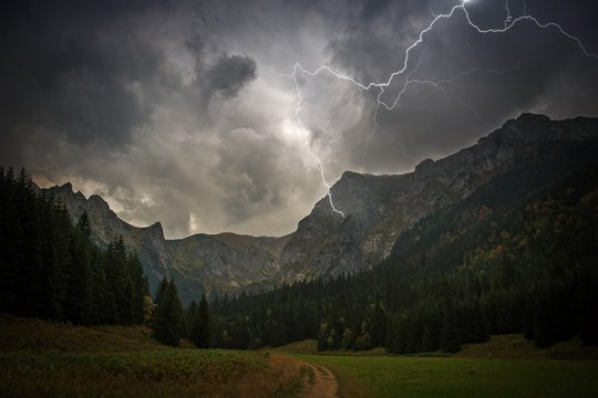High Mountains Electric Storm