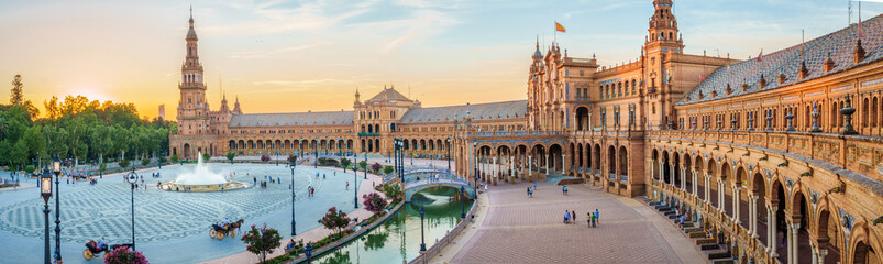 Photo on textile frame European Famous Place The Plaza Espana