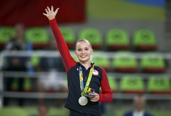 2016 Rio Olympics - Artistic Gymnastics - Women's Uneven Bars Victory Ceremony