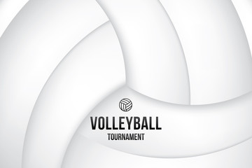 Sport background with volleyball tournament. Vector illustration