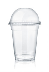 Plastic clear cup with dome lid