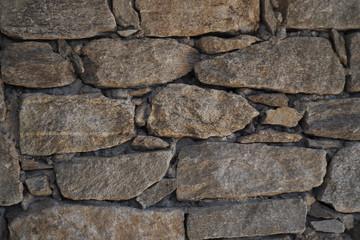 Mauer aus Steinen