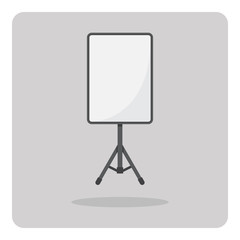 Vector of flat icon, Studio light with soft box for photography on isolated background