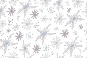 Cute simple flowers. Seamless pattern with delicate flowers. Floral ornament for textiles, Wallpaper, packaging.