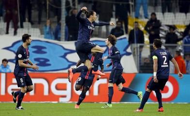 Olympique Marseille v Paris St Germain - French Ligue 1 - Velodrome stadium