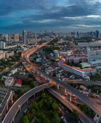 Expressway of Bangkok in The morning