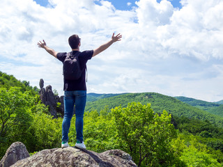 Feeling of freedom on the mountain
