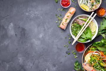 Vietnamese dishes set