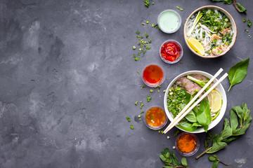 Vietnamese soups set