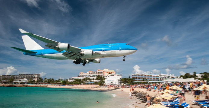 Landing at Juliana airport, Saint Martin