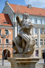 Fountain with the Neptune in Gliwice, Poland