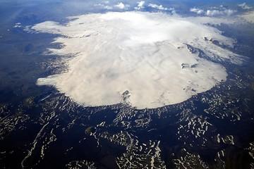 Aerial view of Vatnajökull glacier, Iceland