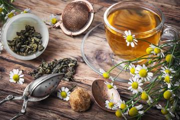Herbal tea with chamomile