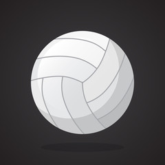Leather volleyball ball