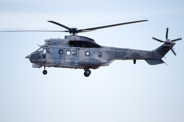 Super puma is a long-range passenger transport all-weather helicopter operation helicopter