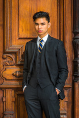 Portrait of Young Indonesian American Businessman in New York