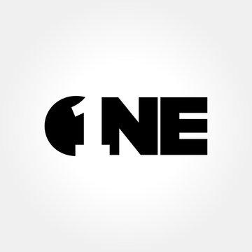 Creative number one symbol