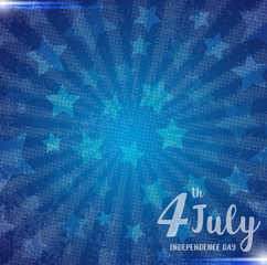 Illustration of an 4 july Independence day greeting card grunge background
