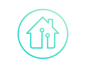 Modern House Real Estate Logo - Smart House Concept