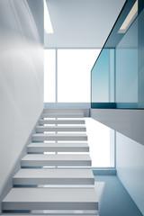 modern home interior, 3d rendering