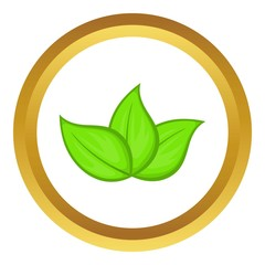 Green leaves vector icon
