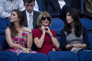 American Vouge editor in chief Wintour and her daughter Shaffer watch as Williams of the U.S. plays against Diatchenko of Russia during their match at the U.S. Open Championships tennis tournament in New York