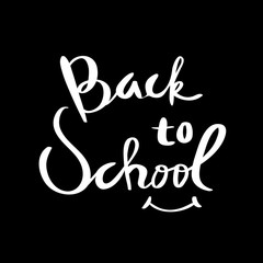 Back to School Typographic. Vintage Style Back to School