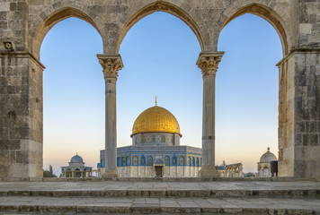 Poster Historical buildings Dome of the Rock in Jerusalem