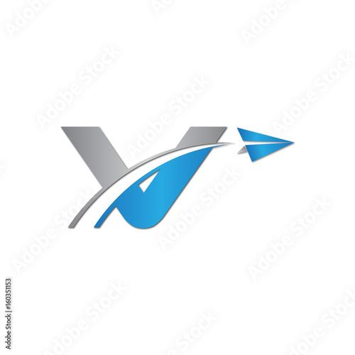 Initial Letter V Logo Origami Paper Plane