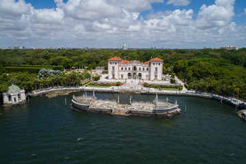 Aerial image of Villa Vizcaya Museum and Gardens Brickell Miami