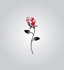 vector rose silhouette