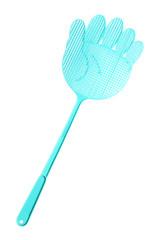 Blue Flyswatter isolated on white background