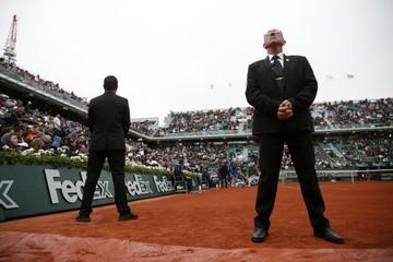 Tennis - French Open Mens Singles Quarterfinal match - Roland Garros - Novak Djokovic of Serbia vs Tomas Berdych of the Czech Republic