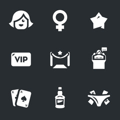 Vector Set of Woman Club Icons.