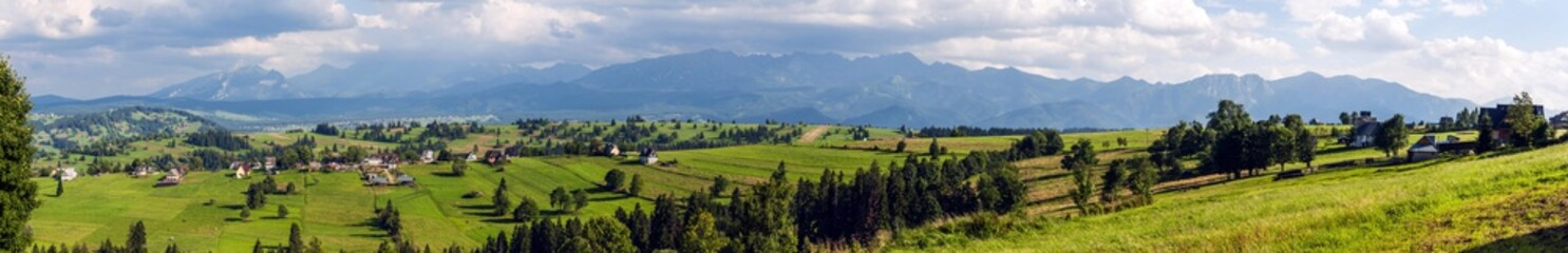 Wide panorama of the Tatras and Podhale.
