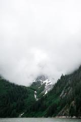 Foggy Mountain Along Tracy Arm
