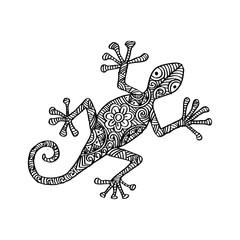 Lizard in zentangle style