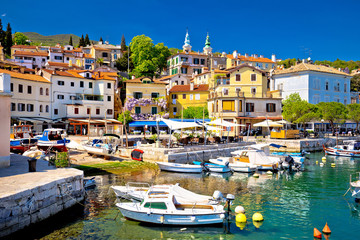 Idyllic mediterranean waterfront in Volosko village Wall mural