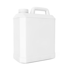 White Plastic Blank Container. 3d Rendering