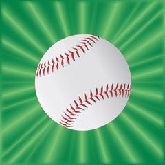 Baseball Over Green