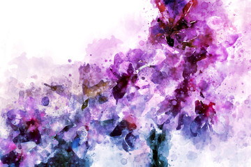 Pink cherry blossom abstract image