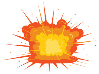 Ground explosion vector icon
