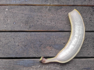 banana with the peel cut off