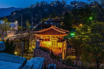 city night skyline seoul  korea