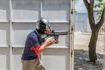 airsoft guns player, Thailand