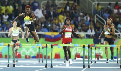 Athletics - Women's 400m Hurdles Round 1
