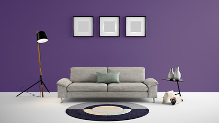 High resolution dark purple empty wall and photo frames for advertisement, wall papers, wall decals, wall art, paintings, etc