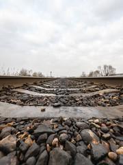 railroad tracks in autumn